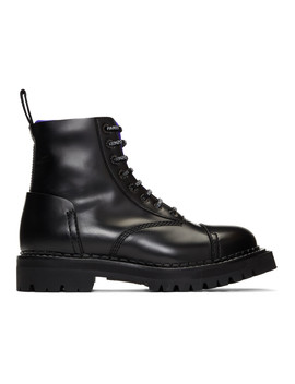 Black Kamden Lace Up Boots by Kenzo