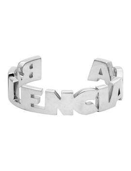 Silver Typo Bracelet by Balenciaga