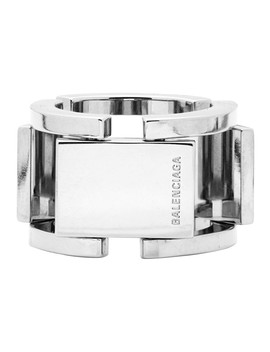 Silver Flat Ring by Balenciaga