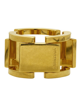 Gold Flat Ring by Balenciaga