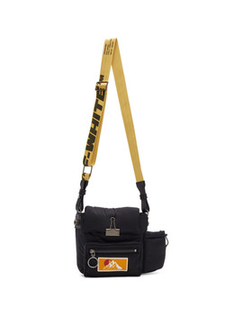 Black Puffy Binder Messenger Bag by Off White