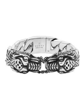 Silver Vintage Tiger Bracelet by Gucci