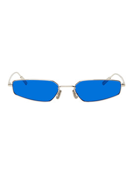 Silver & Blue Astra Sunglasses by Ambush