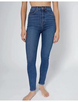 Power Stretch Ultra High Rise Ankle Crop by Re/Done
