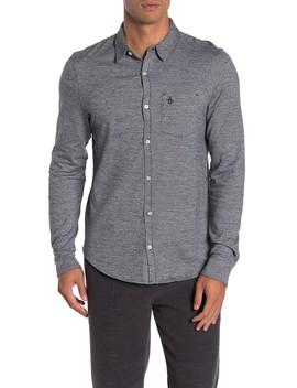 Long Sleeve Jasper Knit Shirt by Original Penguin