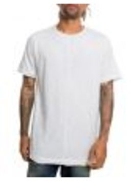 The Raw Lings Raw Edge Scoop Hem Tee In Creme by Scout