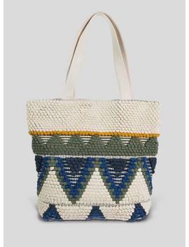 Multicoloured Aztec Canvas Shopper   One Sizetuc135312968 by Argos