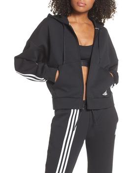 Must Haves 3 Stripes Zip Hoodie by Adidas