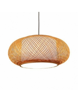 Antique Lantern Pendant Lighting Rattan Single Light Beige Ceiling Fixture For Dining Room by Beautiful Halo