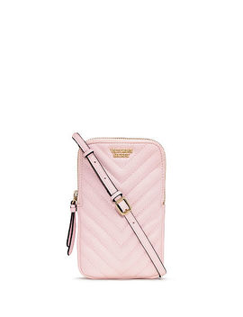 Pebbled V Quilt Phone Crossbody by Victoria's Secret Accessories