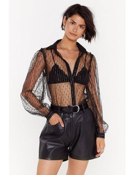 Made Thing's Sheer Embroidered Mesh Shirt by Nasty Gal