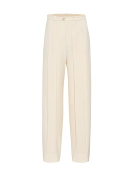 High Rise Straight Wool Pants by Gucci
