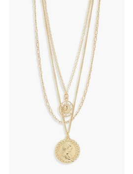Chain & Coin Layered Necklace by Boohoo