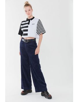 Spliced Striped Polo Shirt by Urban Outfitters