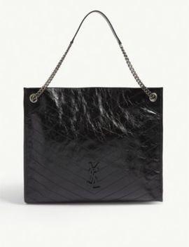 Leather Shopper Bag by Saint Laurent