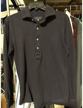 Esntls Navy Long Sleeve Polo Size Medium by Ebay Seller