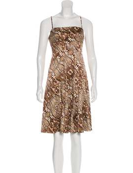 Abstract Print Knee Length Dress by Just Cavalli