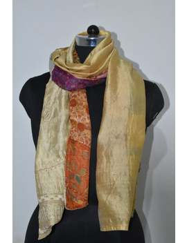 Indian Vintage Silk Sari Scarf Patch Work Summer Scarf Reversible Scarf Ss18 by Etsy