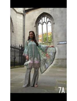 Sobia Nazir Falak Luxury Chiffon Collection 2018 Three Piece Fancy Suit With Embrodiered Duppata Asim Jofa Maria B Agha Noor Sania Maskatiya by Etsy