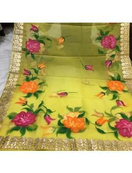 Beautiful Gotta Patti Painted Duppata by Etsy