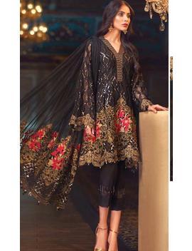 Designer Black Georgette Embroidered Pakistani Suit Pakistani Salwar Kameez Latest Trending Pakistani Suit by Etsy
