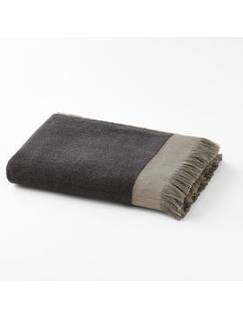 Hammam Fringed Cotton Terry Hand Towel by La Redoute Interieurs