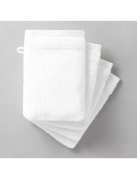 Pack Of 4 Cotton Wash Mitts by La Redoute Interieurs
