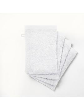 Scenario Set Of 4 Cotton Towelling Wash Mitts by La Redoute Interieurs