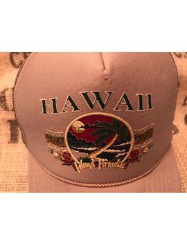 Vintage Retro Hawaii Island Paradise Baseball Hat Cap Truckers Mesh Back Snap Bk by Unbranded