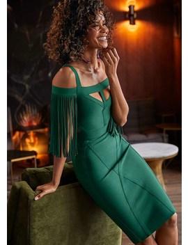 Slimming Fringe Dress by Venus