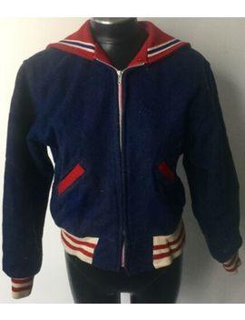 Vintage Varsity Letterman Cheerleading Butwin W/Flap Wool Jacket by Butwin