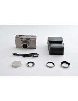 Contax T3 Chrome Date Back 35mm Film Point & Shoot W/ Case From Japan F/S #0470 by Contax