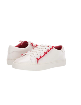 Clearance New Tory Burch Tory Sport Ruffle Leather Sneaker 8 White/Red Msrp $228 by Tory Burch