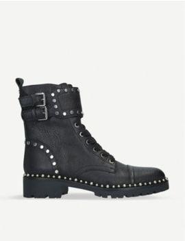 Jennifer Leather Combat Boots by Sam Edelman