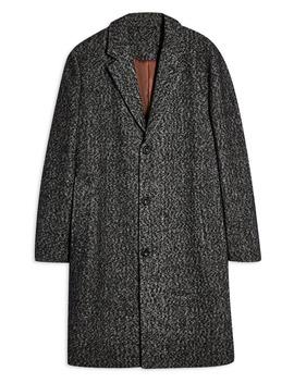 Leon Herringbone Coat by Topman