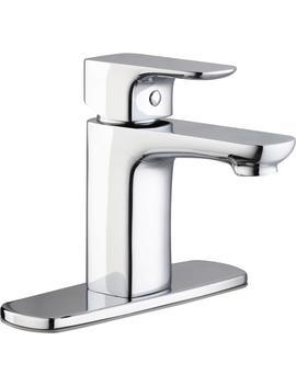 Contemporary Single Hole Single Handle Low Arc Bathroom Faucet In Chrome by Glacier Bay