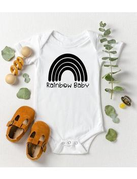 Baby Bodysuit | Baby Shower Gift | Rainbow Pregnancy Announcement | Gender Neutral Baby Clothes | Rainbow Baby by Etsy
