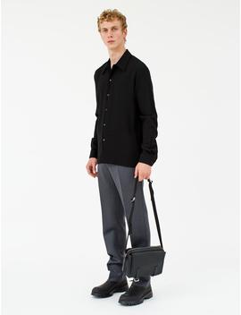 Woollen Trouser In Grey Melange by Maison Margiela