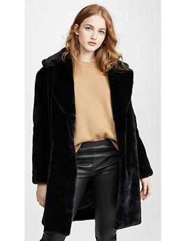 Faux Fur Tailored Jacket by Adrienne Landau