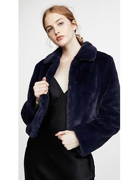 Short Faux Fur Jacket by Adrienne Landau