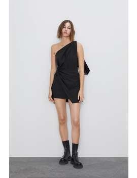 Mini Dress With Bow  New Inwoman by Zara