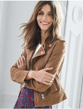 Morleigh Jacket   Soft Truffle Suede by Boden