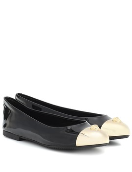 Embellished Patent Leather Flats by Versace