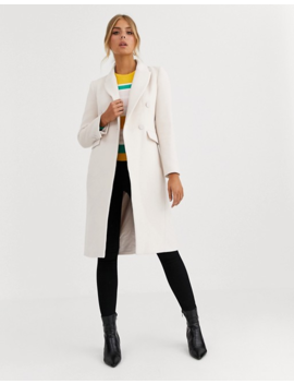 Forever New Midi Coat In Cream by Forever New