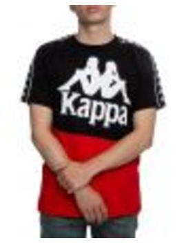 222 Banda Baldwin Tee In Black/Red by Kappa