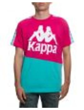 222 Banda Baldwin Tee In Fuchsia/Green/White by Kappa