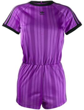 Striped Jersey Jumpsuit by Adidas