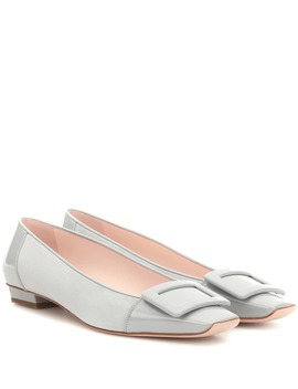 Belle Vivier Suede And Leather Ballet Flats by Roger Vivier