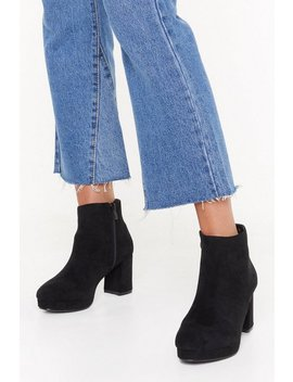 Suede To Break Your Heart Faux Suede Boots by Nasty Gal