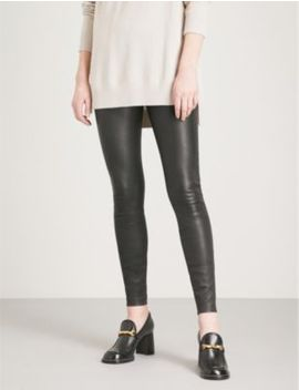 Goldie Leather Leggings by Reiss